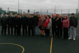 Открытие спортивной площадки в ауле Коноковский